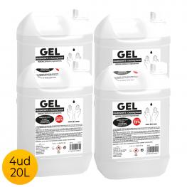 Pack 4Ud Garrafa 5 Litros Gel Hidroalcohólico 75% Alcohol