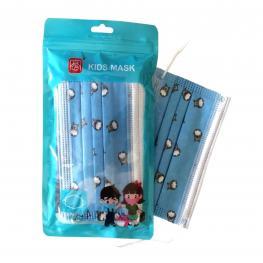 Pack 50 Mascarillas Desechable Para Niños de 4 A 12 Años 3 Capas Color Azul