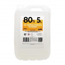 Gel Hidroalcohólico 80% Garrafa de 5 Litros