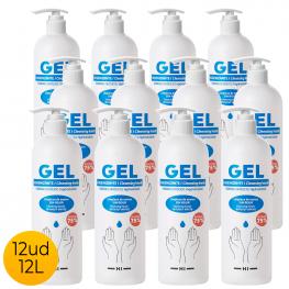 Pack 12Ud Gel Hidroalcohólico 500Ml 75% Alcohol Con Dispensador Dosificador