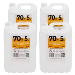 Pack de 4 Garrafas De5 Litros Degel Hidroalcohólico 70% 5 Litros